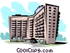 Apartment building Vector Clipart illustration