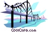 Vector Clip Art image  of a Bridge