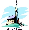 Vector Clip Art graphic  of a Church