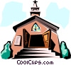 Church Vector Clipart graphic