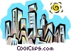 City skyline Vector Clipart picture