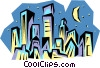 Vector Clip Art picture  of a City skyline