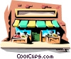 Vector Clipart illustration  of a Corner store