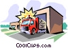 Fire station Vector Clipart illustration