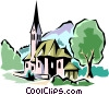 Vector Clip Art image  of a Traditional Church