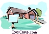 House for sale Vector Clipart picture