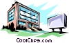 Vector Clip Art image  of a Office building