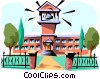 Vector Clipart graphic  of a School building