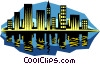 City skyline Vector Clip Art picture