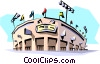 Vector Clip Art graphic  of a Baseball stadium