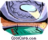 Vector Clipart picture  of a Football stadium