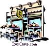 Street cafe Vector Clipart picture