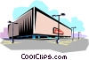 Vector Clipart illustration  of a Shopping center