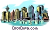 Vector Clip Art picture  of a City skylines
