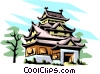 Japanese pagoda Vector Clipart illustration