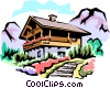 Vector Clipart illustration  of a Swiss chalets