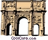 Vector Clip Art graphic  of a Roman Arch of Constantine