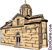 Vector Clipart illustration  of a Greek Church