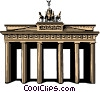 Vector Clip Art picture  of a Brandenburg Gate