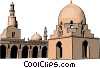 Vector Clip Art picture  of a Muslim Mosque