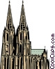 Cologne Church Vector Clip Art graphic