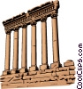 Vector Clipart graphic  of a Roman Architecture