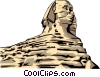 Vector Clipart image  of a Sphinx