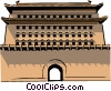 Vector Clipart graphic  of a Chinese Gate
