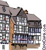 Vector Clip Art graphic  of a German Architecture