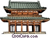 Vector Clip Art graphic  of a Japanese Gate