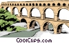 Vector Clipart picture  of a Roman Aqueduct