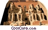 Vector Clip Art graphic  of a Temple of Abu Simbel