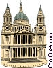 Vector Clip Art graphic  of a St. Paul's Cathedral