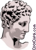 Vector Clip Art image  of a Statue of Hermes Praxiteles