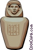 Egyptian Mummification Jar Vector Clipart illustration