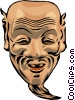 Vector Clipart graphic  of a Japanese mask