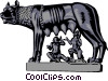 Statue of Romulus and Remus Vector Clipart picture