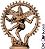 Vector Clipart graphic  of a Siva Hinduism