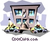 Vector Clipart graphic  of a Police station