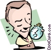 Vector Clipart graphic  of a Catch a quick wink