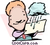 Vector Clip Art image  of a Taking a rain check