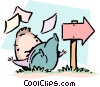 Vector Clipart illustration  of a Falling by the wayside