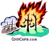 Forest fire Vector Clipart picture
