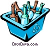 Recycled bottles Vector Clipart illustration