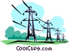 Vector Clip Art picture  of a Hydro towers