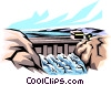 Hydro dam Vector Clip Art graphic