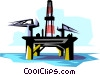 Vector Clipart picture  of a Oil rig