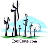 Vector Clipart graphic  of a Wind energy