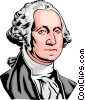 Vector Clipart graphic  of a George Washington