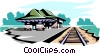 Vector Clip Art graphic  of a Train station